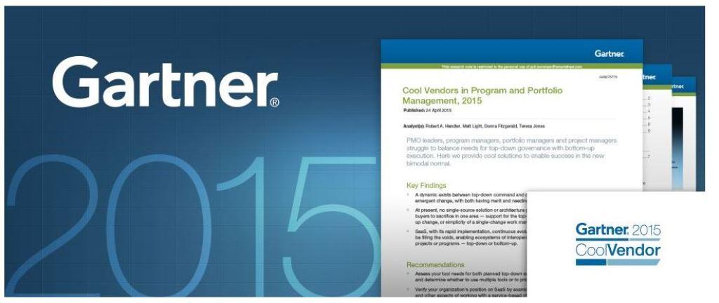 Gartner Names Smartsheet a 'Cool Vendor' in Program and Portfolio Management 2015