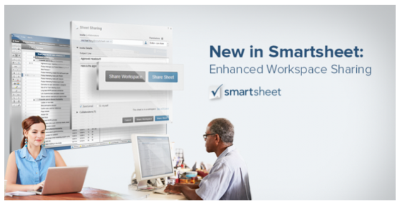 New in Smartsheet:  Enhanced Workspace Sharing