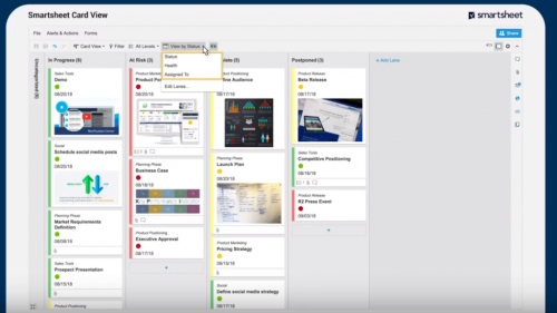 Use Smartsheet Card View to Visualise your Project