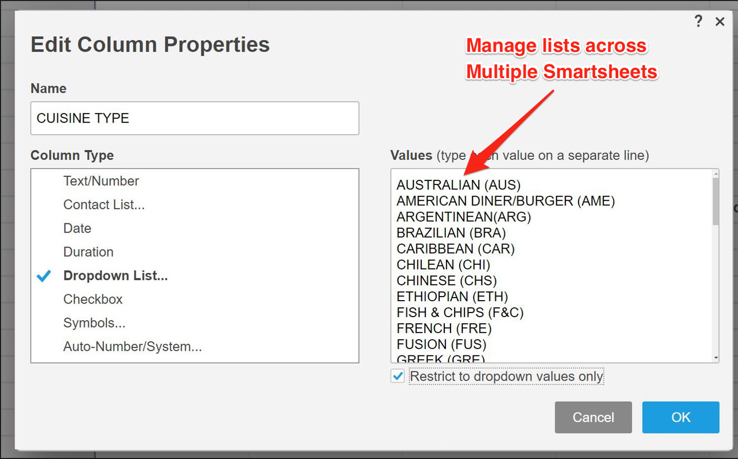 Smarter Dropdown List Manager - SmarterBusinessProcesses
